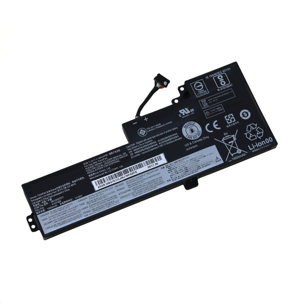 2080mAh/24Wh Lenovo ThinkPad T470 Replacement Battery 01AV419 11.55V