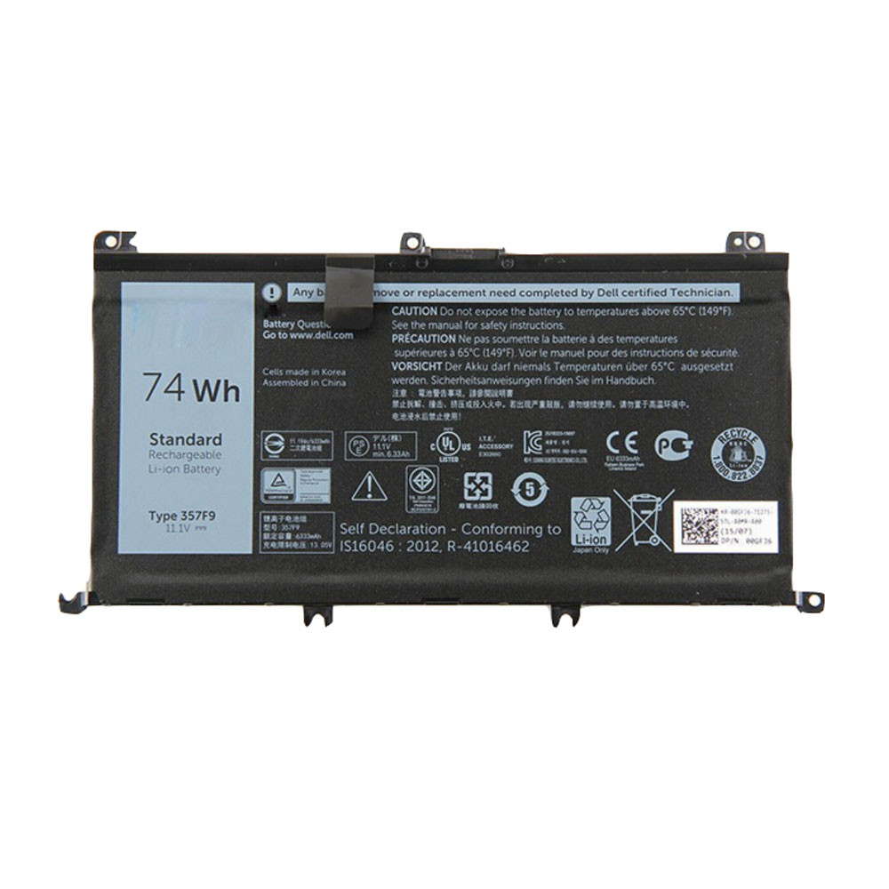 74Wh 11.1V/11.4V 357F9 Replacement Battery for Dell Inspiron 15 7559 7000 INS15PD-1548R