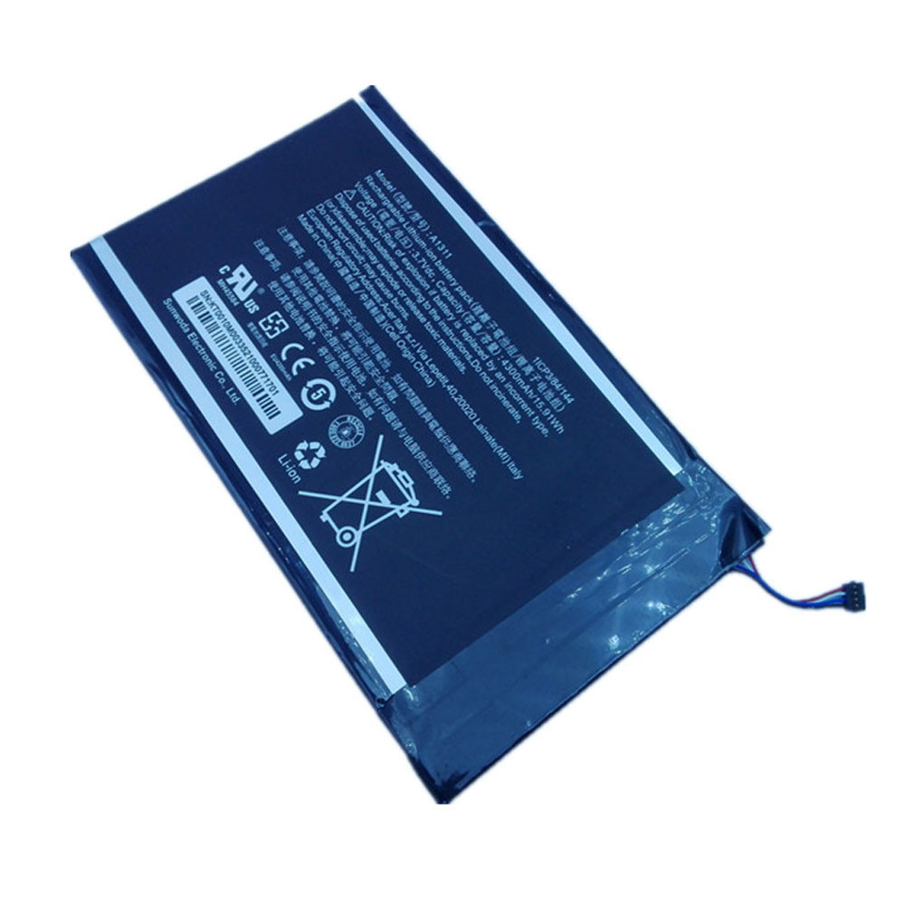 15.91Wh/4300mAh 3.7V A1311 Replacement Battery for Acer Iconia Tab A1-830