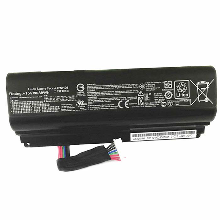 88WH ASUS A42LM93 G751J-BHI7T25 GFX71JY4710 88WH Replacement Battery 42N1403 15V