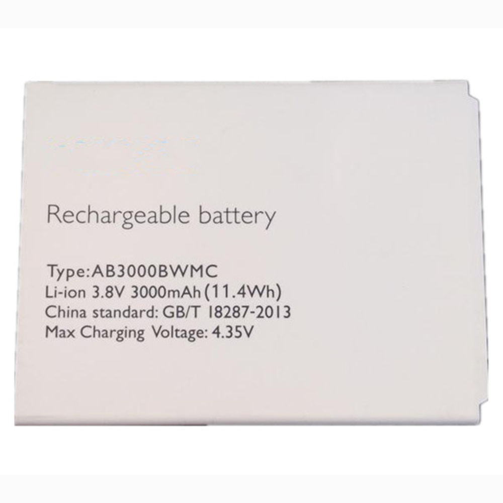 3000mAh/11.4WH 3.8V/4.35V AB3000BWMC Replacement Battery for Philips Xenium CTI928 i928
