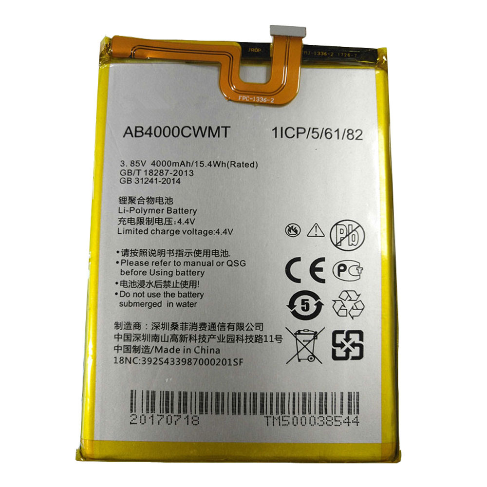 4000mah /15.4WH 3.85V/4.4V AB4000CWMT Replacement Battery for PHILIPS S598 CTS598 X598