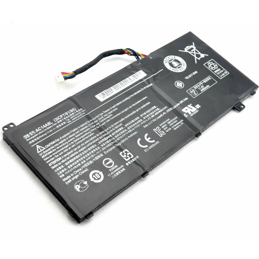 52.5Wh Acer V15 Nitro Aspire VN7-571 VN7-591 VN7-791 Replacement Battery AC14A8L 11.4V