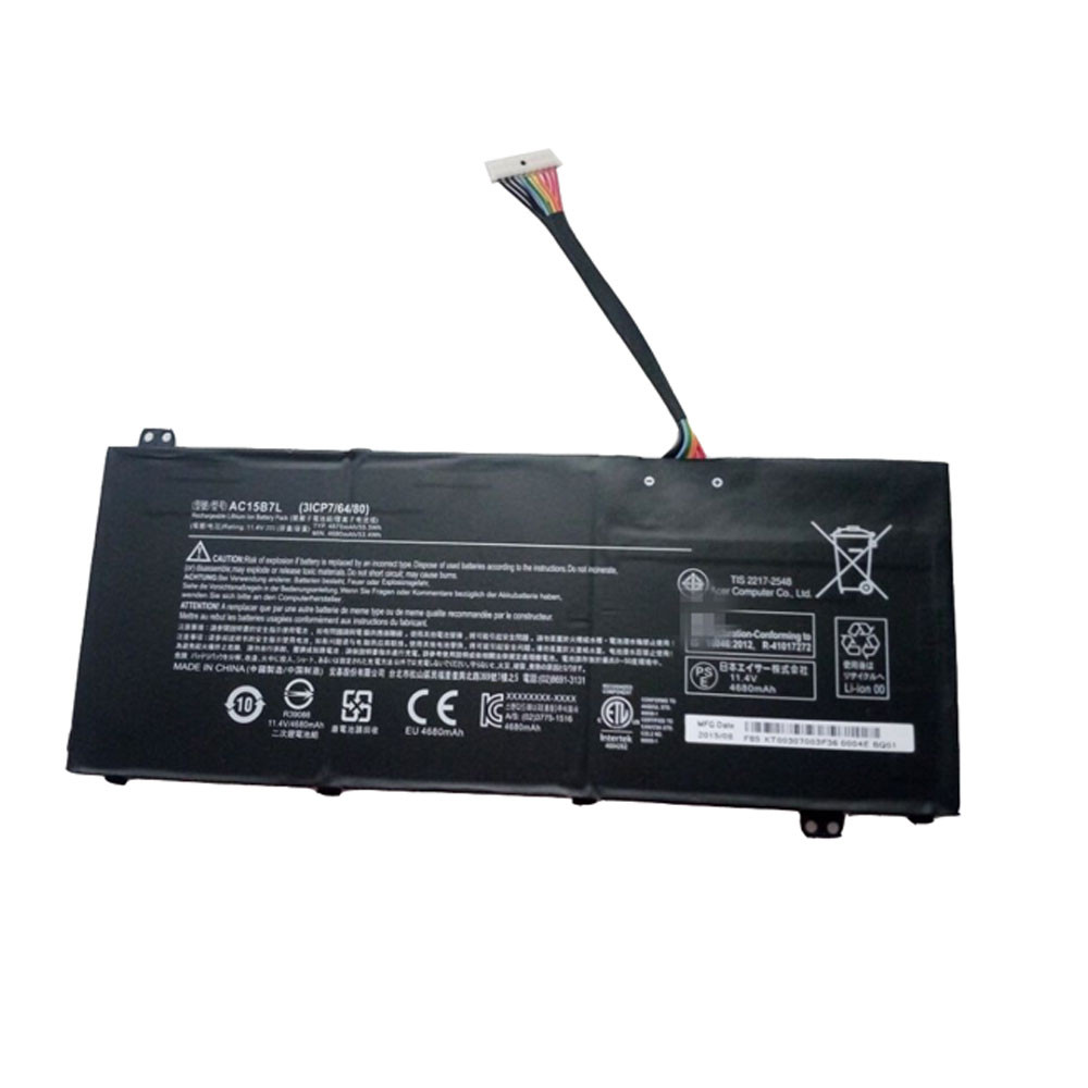 4870mAh/55.5Wh 11.4V AC15B7L Replacement Battery for Acer Aspire V15 Nitro VN7-591 31CP7/64/80 Series