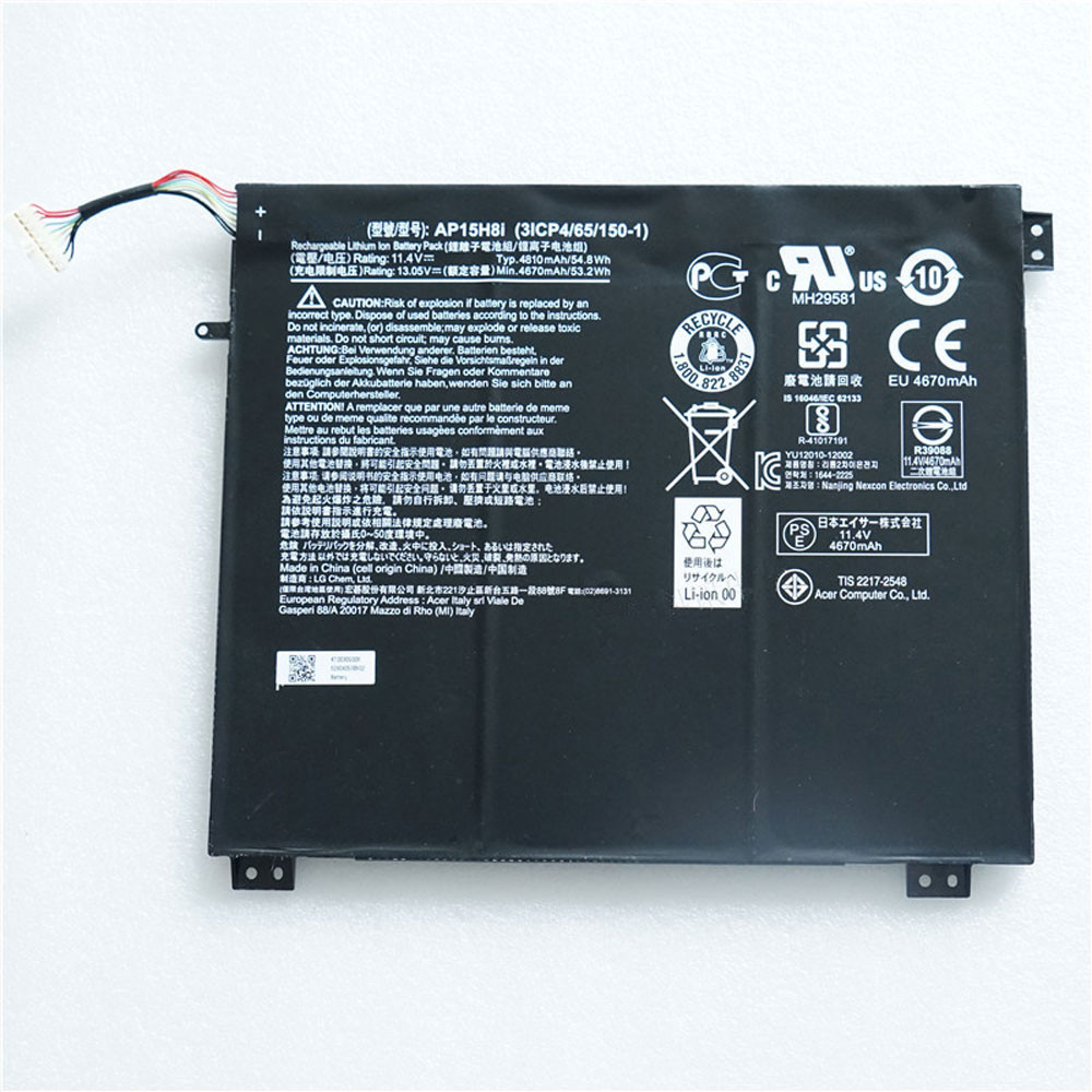 "54.8Wh 11.4V AP15H8i Replacement Battery for Acer Aspire One CloudBook 14"" AO1-431-C8G8"