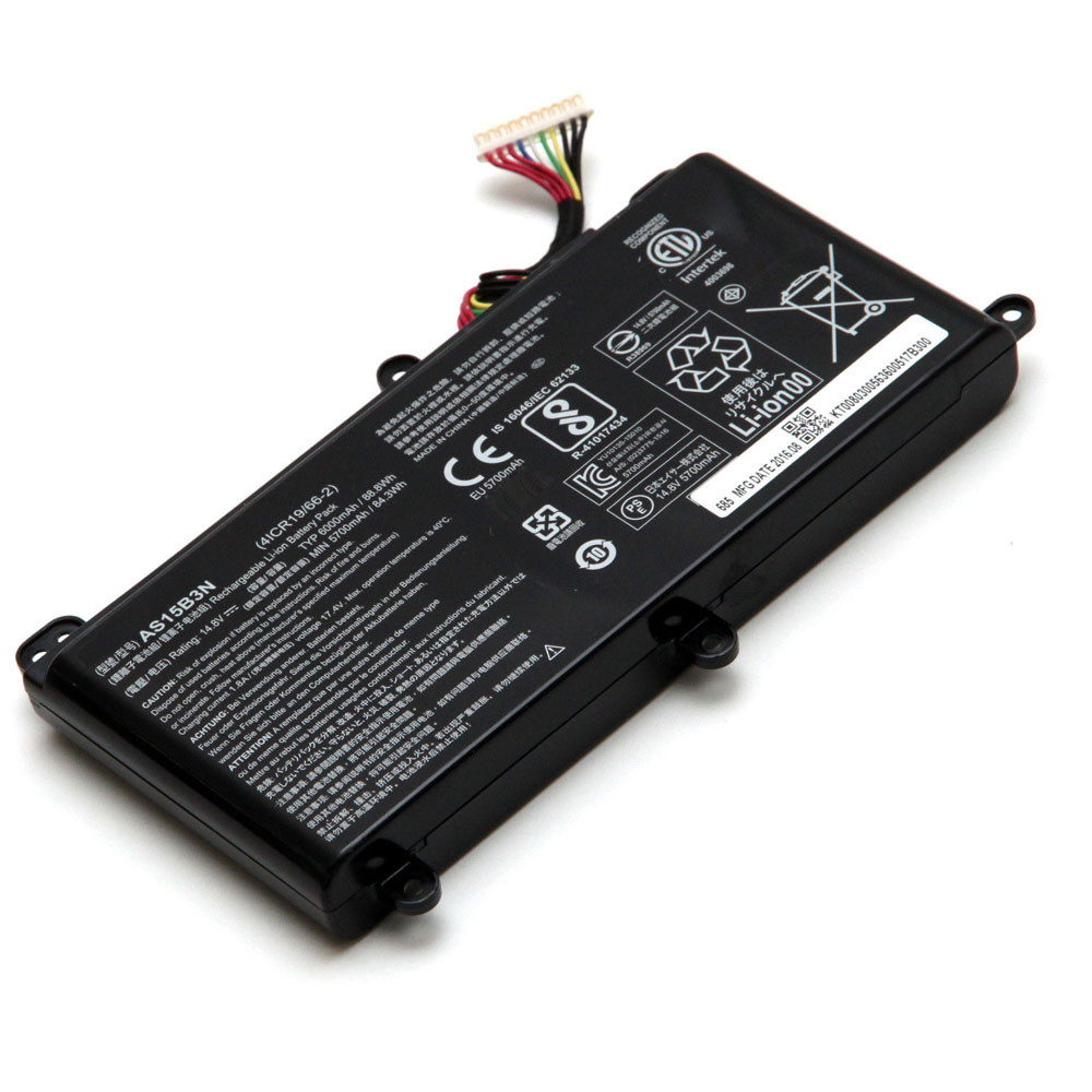 6000mAh/88.8Wh 14.8V AS15B3N Replacement Battery for Acer Predator G9-591 G9-592 G9-791 G9-792 GX-791