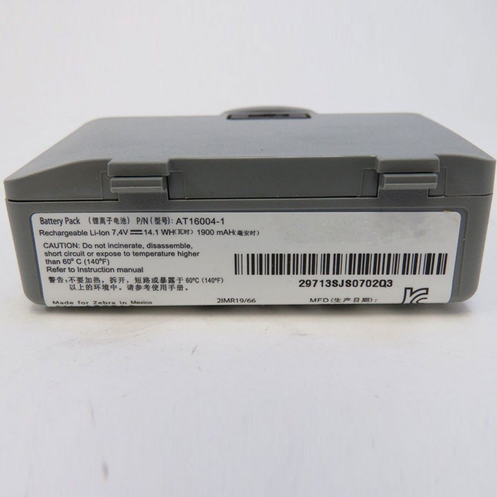 1900MAH/14.1WH 7.4V AT16004-1 Replacement Battery for Zebra Printer QL220 320 QL220  QL320 PLUS Spare