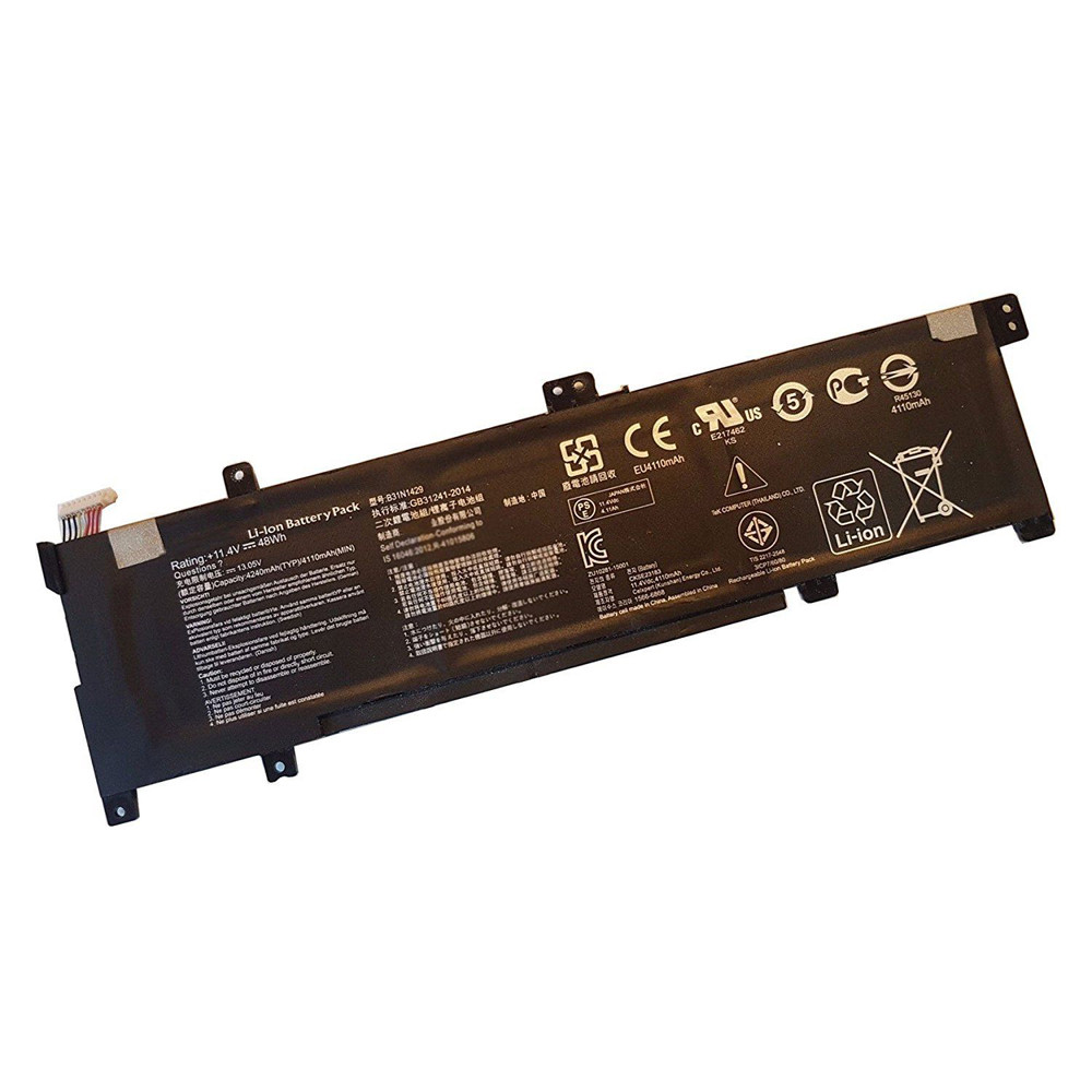 48Wh ASUS A501LB5200 K501U K501UX K501UB Replacement Battery B31N1429 11.4V