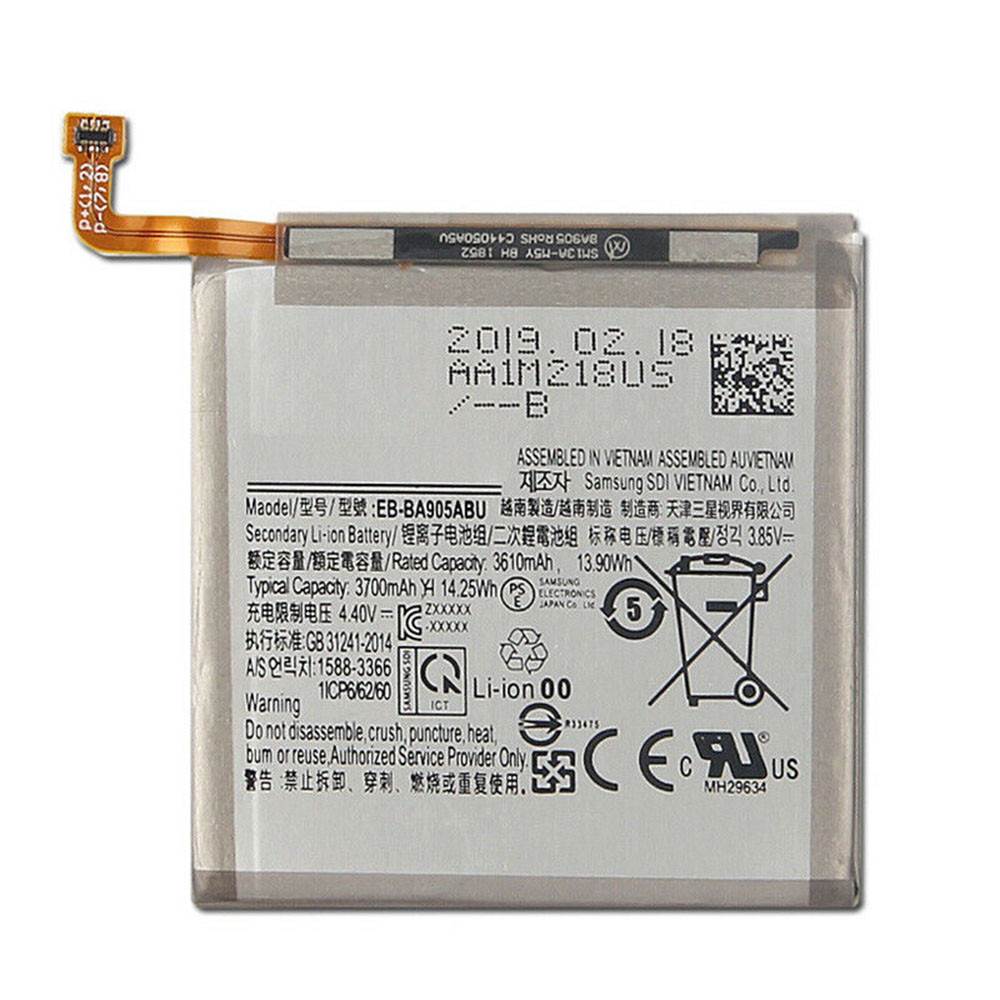 3610mAh/13.9WH 3.85V/4.4V EB-BA905ABU Replacement Battery for Samsung Galaxy A90 SM-A905F Authentic