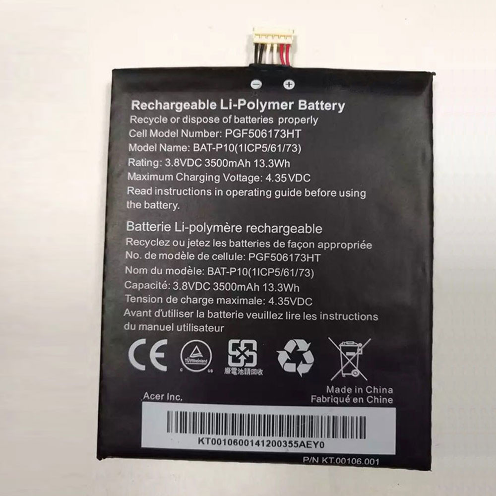 3500MAH/13.3WH 3.8V/4.35V BAT-P10 Replacement Battery for Acer E39 Liquid E700 Liquid E700 Triple