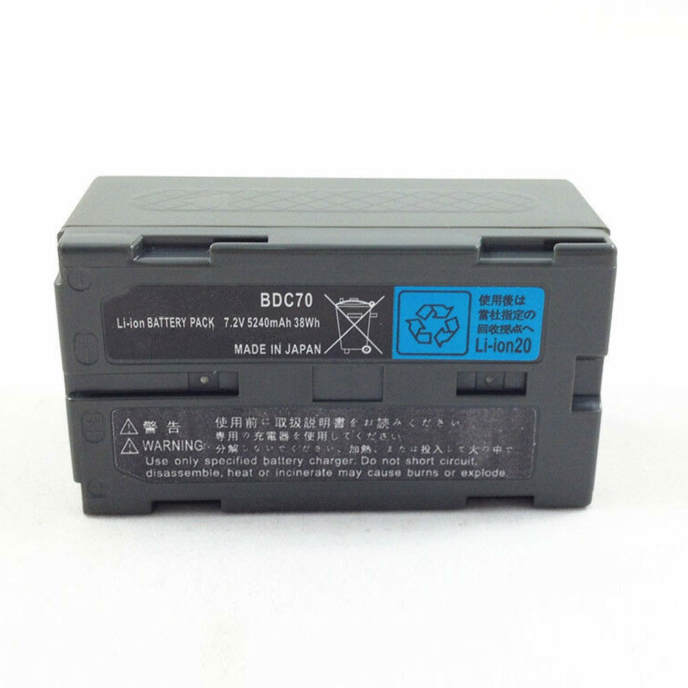 5240mAh /38WH 7.2V BDC70 Replacement Battery for SOKKIA TOPCON BDC70 for Total Station / GPS