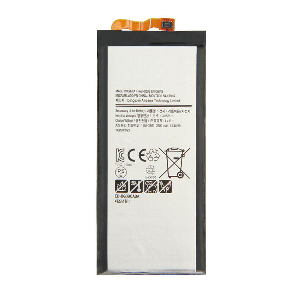 3500mAh/13.48WH 3.85V/4.4V EB-BG890ABA Replacement Battery for Samsung Galaxy S6 Active G890A G870A