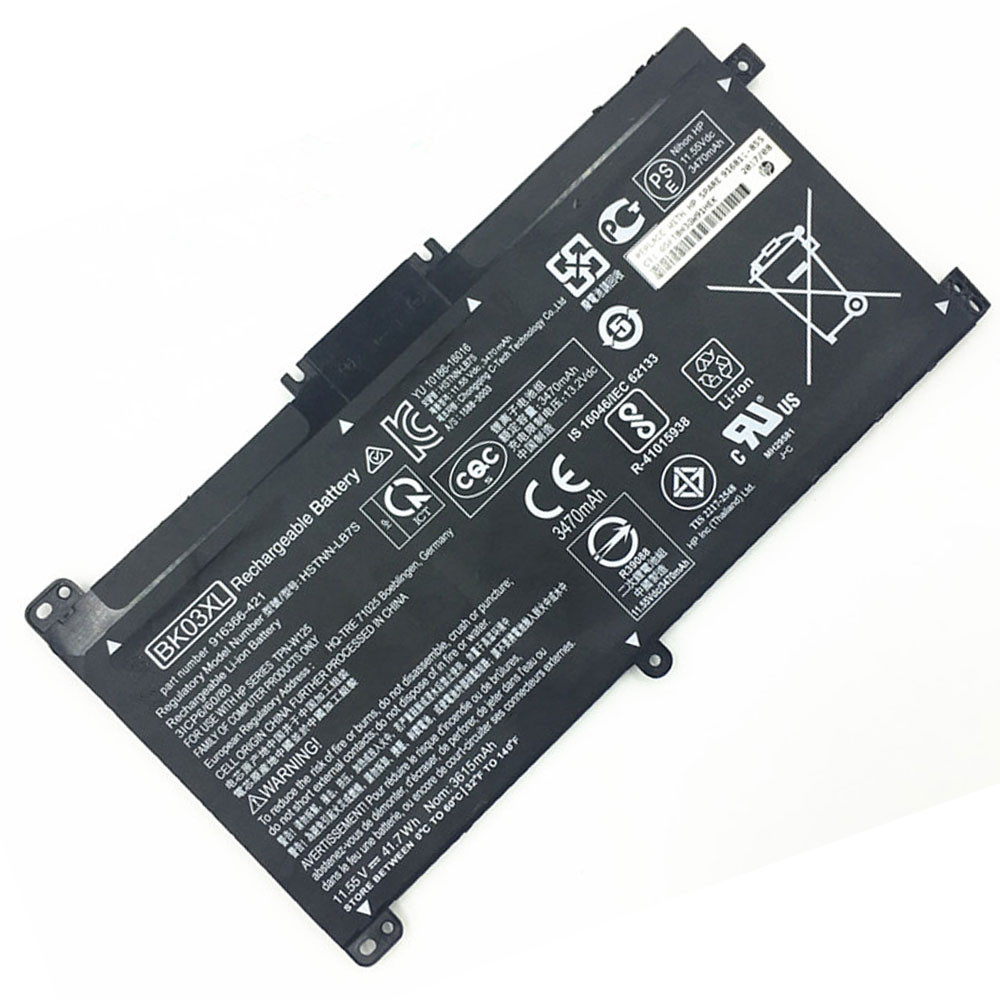 41.7Wh 11.55V BK03XL Replacement Battery for HP BK03XL HSTNN-UB7G TPN-W125 916366-541 916811-855 Series