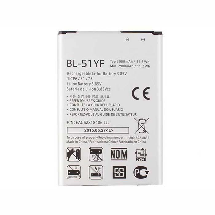 3000mAh  LG G4 F500 H810 H815 LS991 VS986 Replacement Battery BL-51YF 3.8DVC