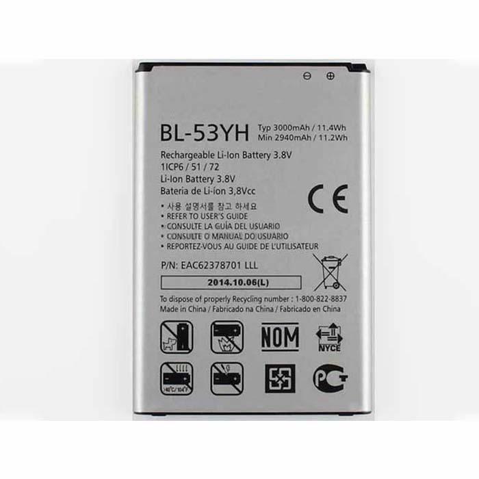 3000mAh LG G3 D850 D855 VS985 F400 Replacement Battery BL-53YH 3.8DVC
