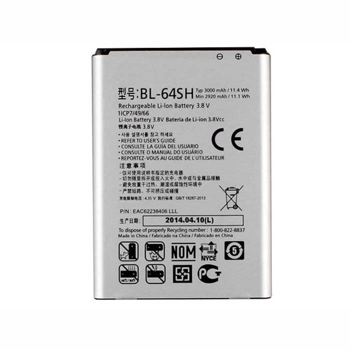 3000mAh LG Volt LS740 Boost Mobile Virgin Replacement Battery BL-64SH 3.8V