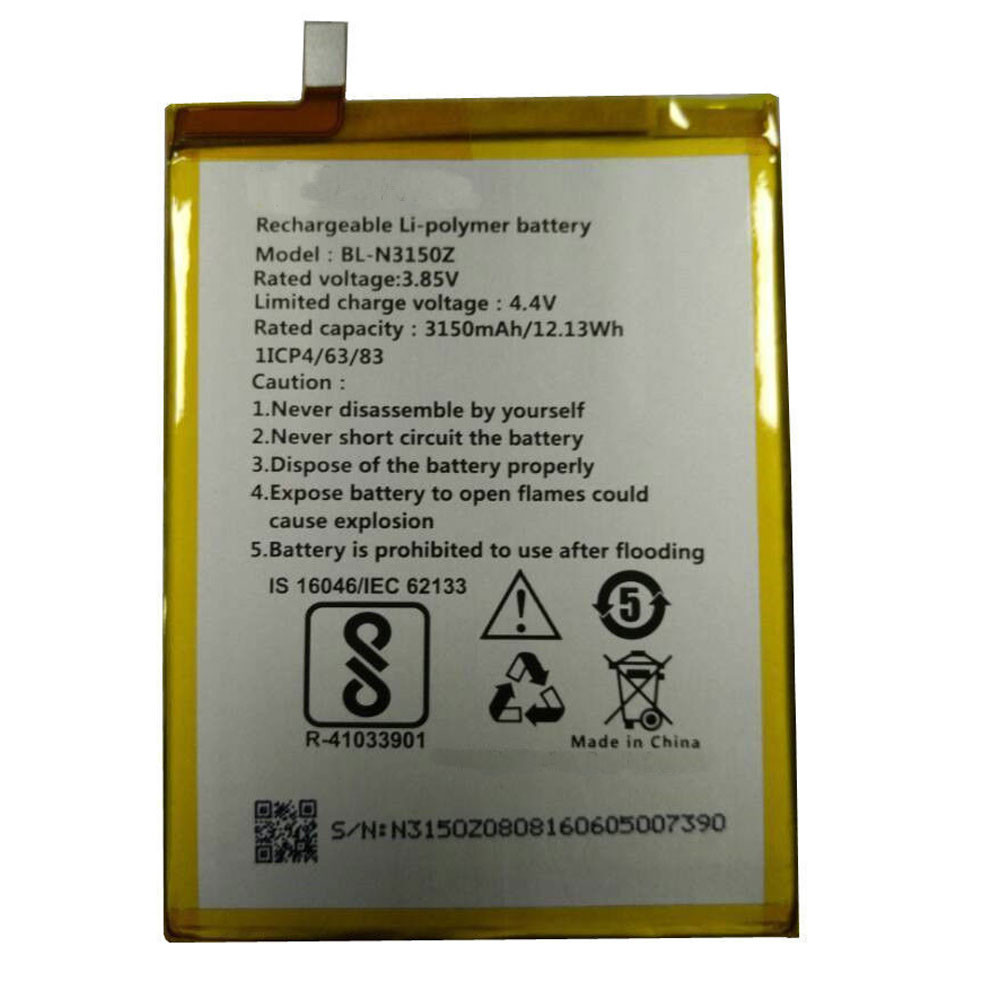 3150mAh /12.13Wh 3.85V/4.4V BL-N3150Z Replacement Battery for BLU VIVO XL 2