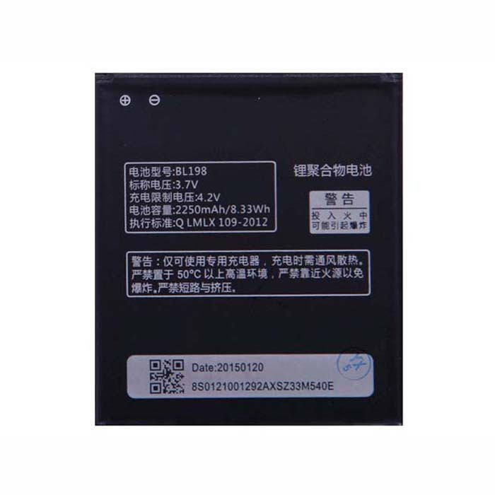 2000mAh Lenovo S880 A678T A850 K860 A830 A860E Replacement Battery BL198 3.7V