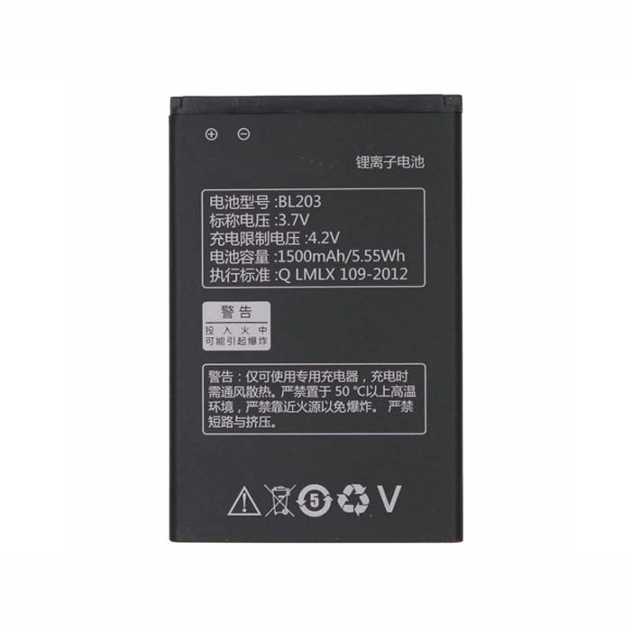1500mah/5.55WH Lenovo A278T A365E A308T A369 A66 A318T Replacement Battery BL203 3.7V