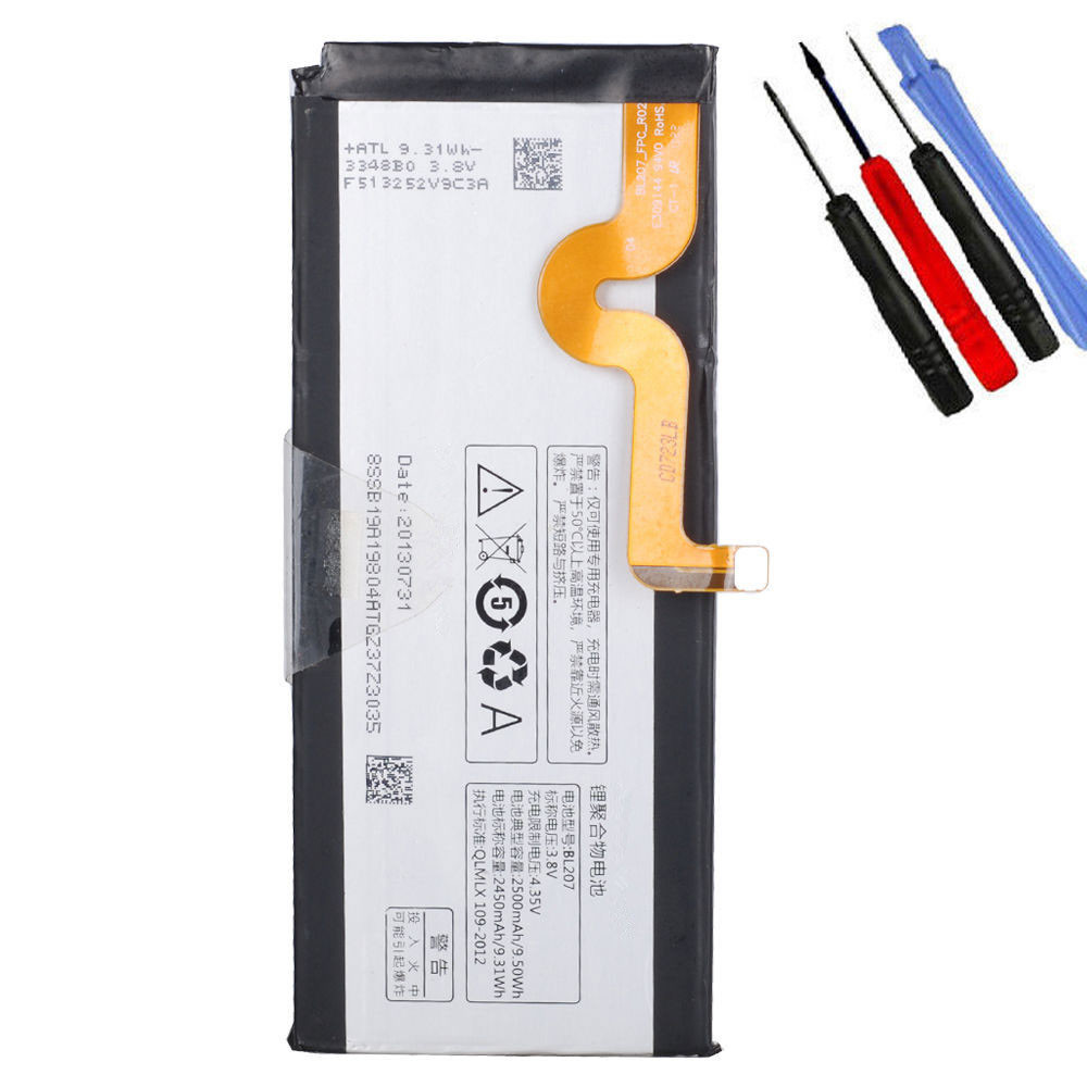 2450MAH/9.31Wh 3.8V/4.35V BL207 Replacement Battery for Lenovo K100 K900