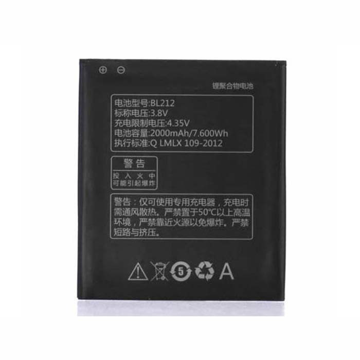 2000mAh/7.60wh Lenovo Golden Warrior S8 S898T+ A708T A628T A620T Replacement Battery BL212 3.8V