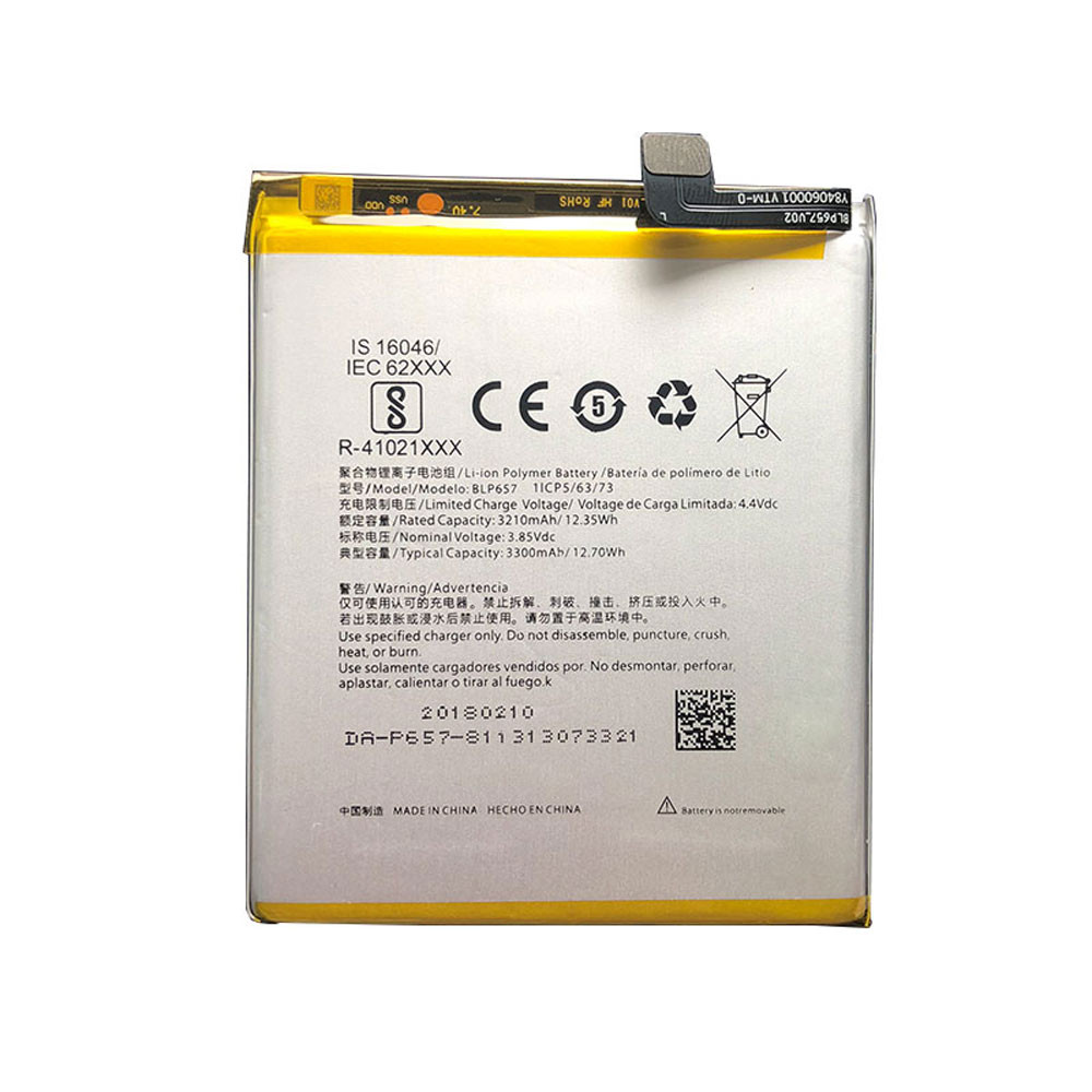 3210mAh/12.35WH 3.85V BLP657 Replacement Battery for Oneplus 6