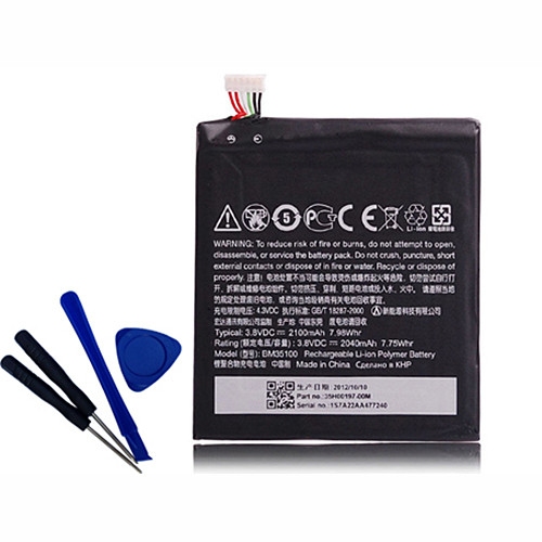 2100mah HTC One X G23 S720E One X+ S728E 720T 2100mAh with tools Replacement Battery BM35100 3.8V