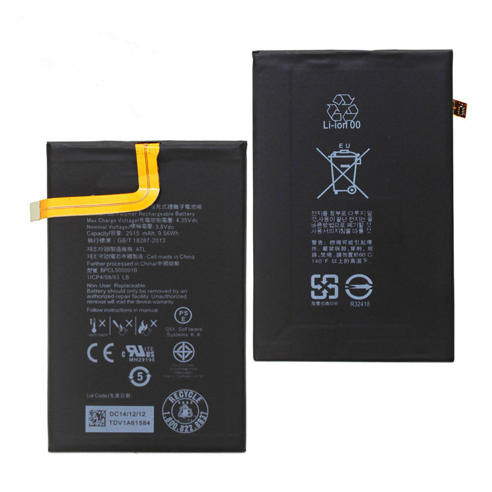2515mAh /9.56Wh 3.8V/4.35V BPCLS00001B Replacement Battery for BlackBerry Classic Q20