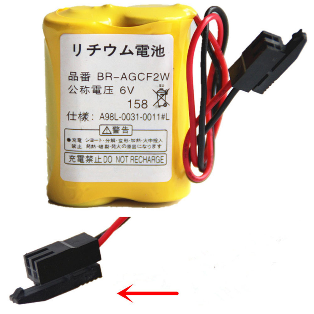 1800mAh 6V BR-AGCF2W Replacement Battery for Cutler Hammer GE Fanuc A98L-0031-0011/L