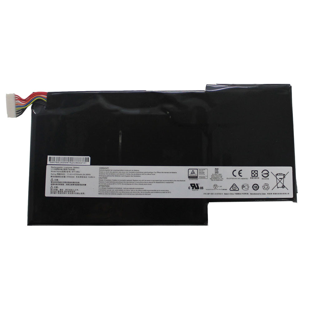 64.98Wh/5700mAh 11.4V BTY-M6J Replacement Battery for MSI GS63VR GS73VR 6RF-001US BP-16K1-31 9N793J200
