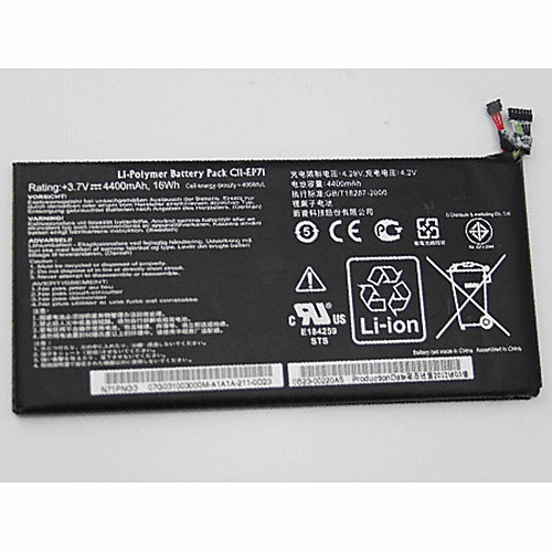 4400mAh/16WH Asus Eee Pad MeMo EP71 Tablet N71PNG3 Replacement Battery C11-EP71 3.7V