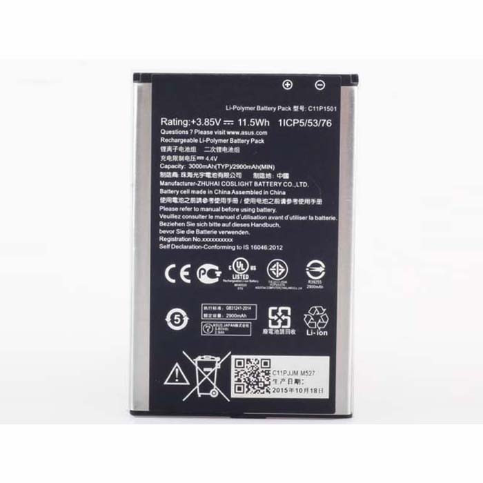 3000mah/11.5wh ASUS ZE500CL ZE551KL ZE601KL ZenFone 2 Replacement Battery C11P1501 3.85 V-4.4V