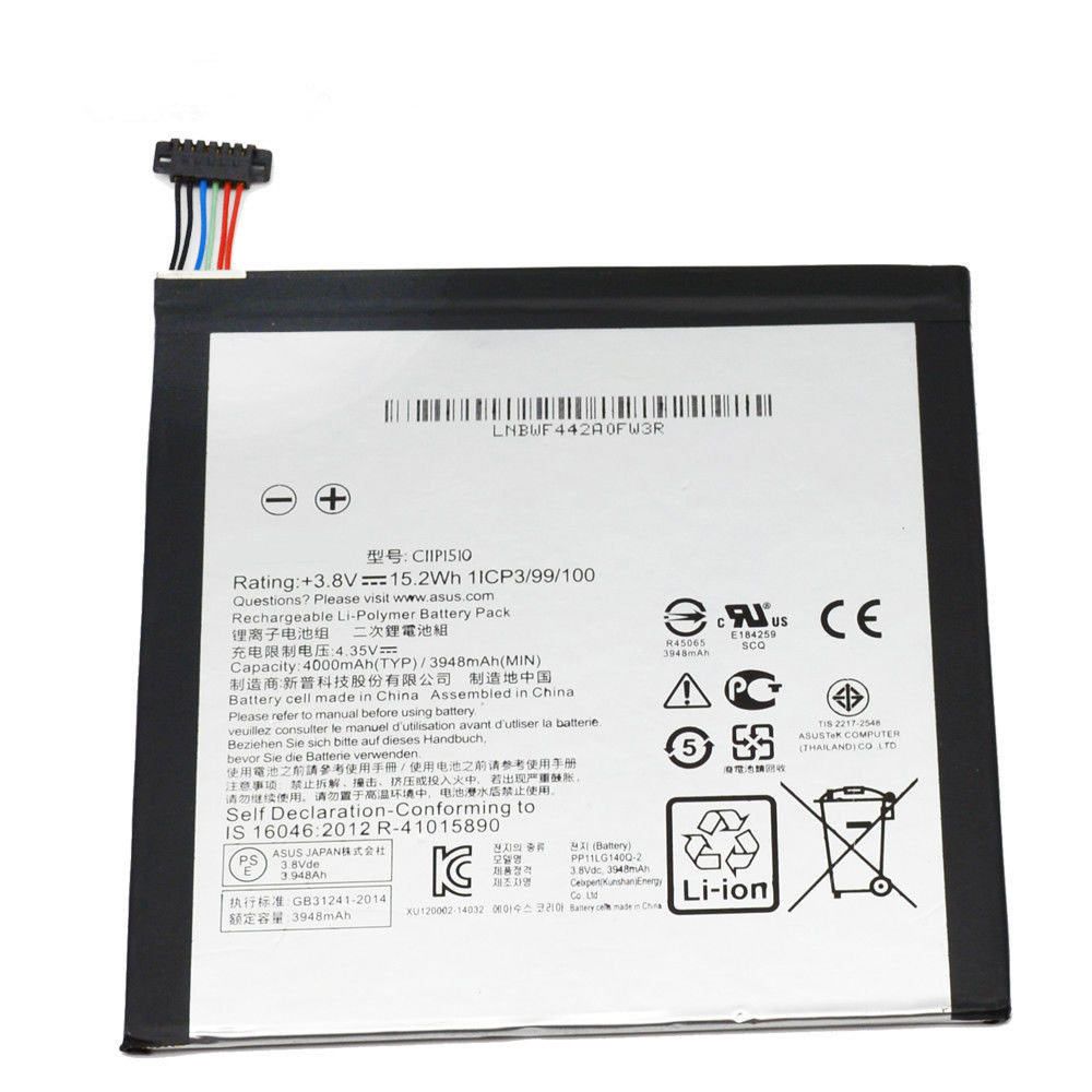 4000MAH/15.2WH 3.8V/4.35V C11P1510 Replacement Battery for Asus ZenPad S 8.0 Z580CA Series
