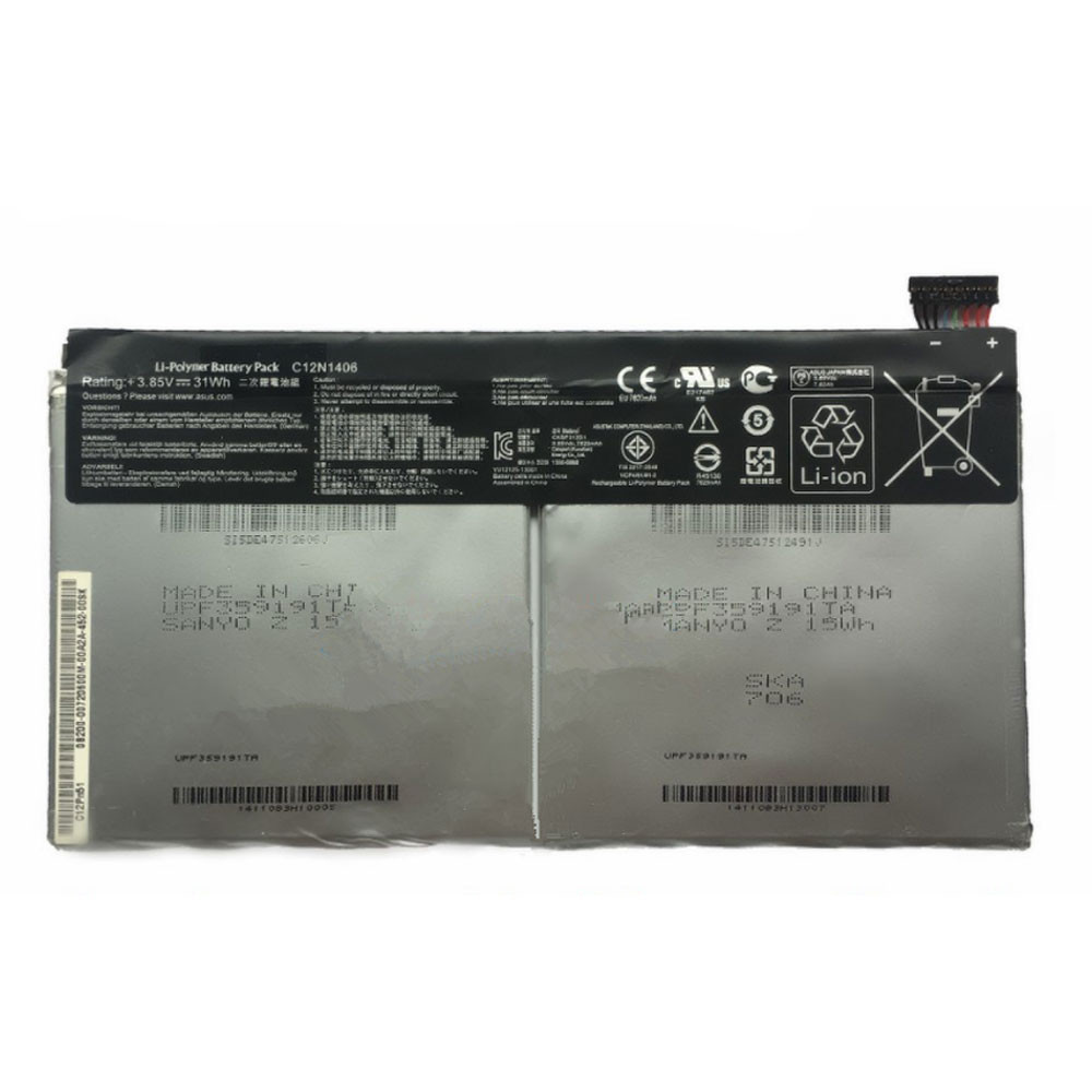 31Wh 3.85V C12N1406 Replacement Battery for Asus Pad Transformer Book T100TAL Tablet