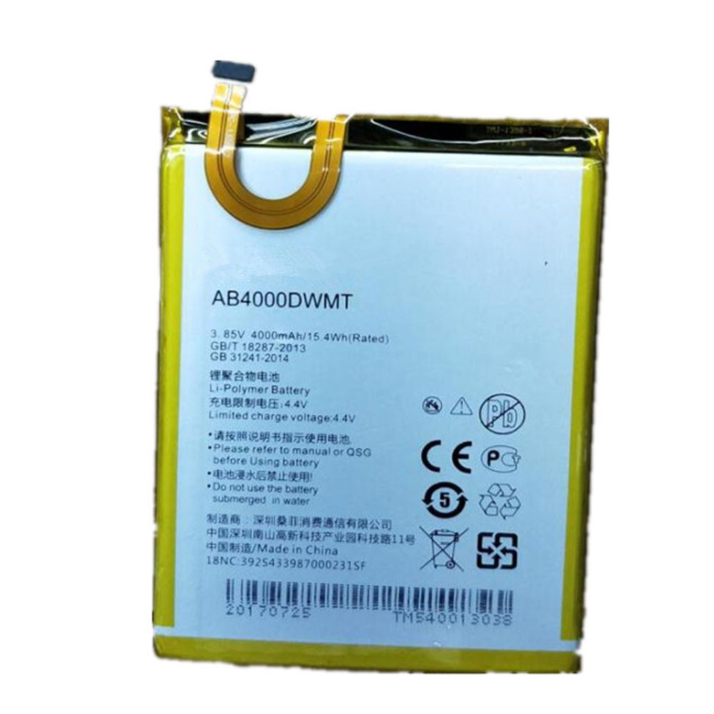 4000mAh/15.4WH 3.85V/4.4V AB4000DWMV Replacement Battery for PHILIPS CTX596