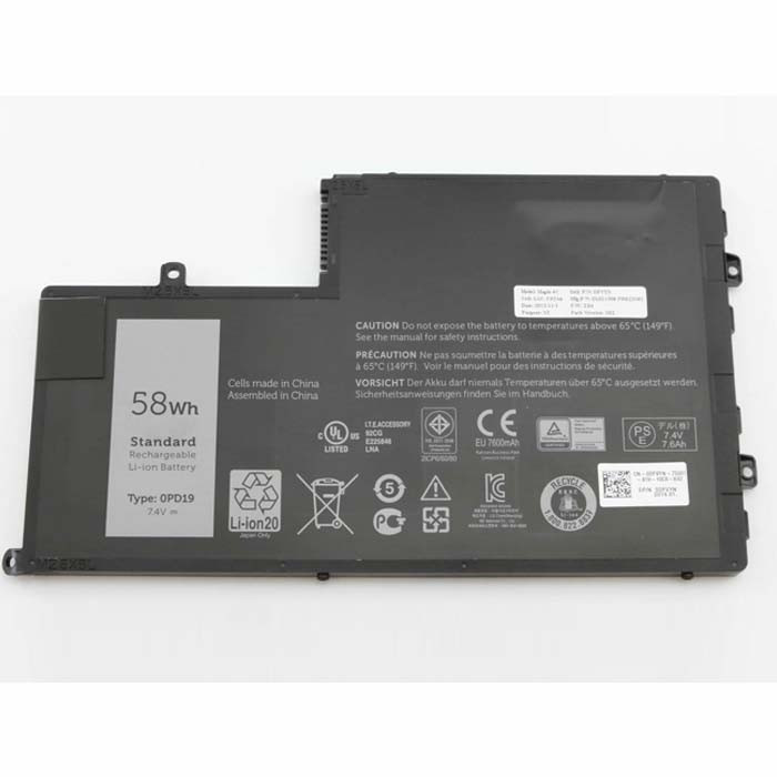 58Wh/7600mAh Dell Inspiron 15 5445 5448 Replacement Battery 0PD19 1V2F6  7.4V