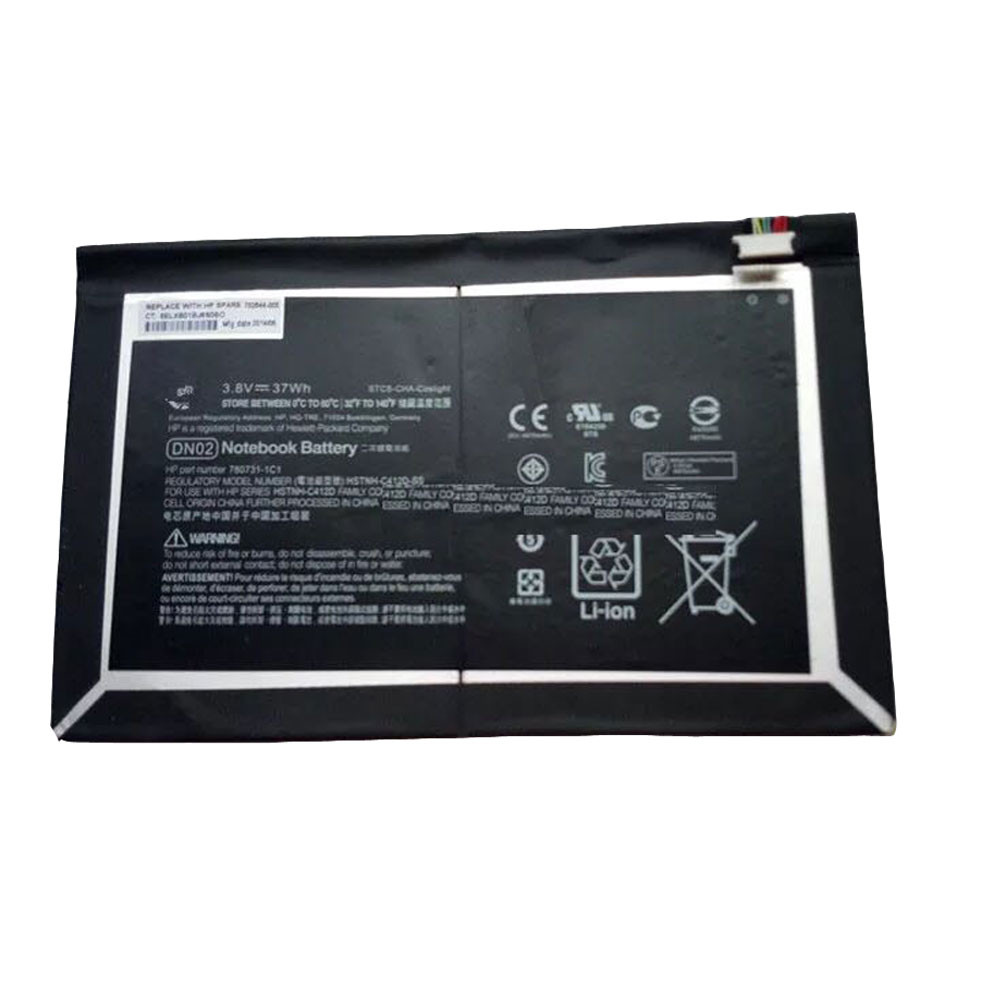 37Wh 3.8V DN02 Replacement Battery for HP Pro Slate 12 Series