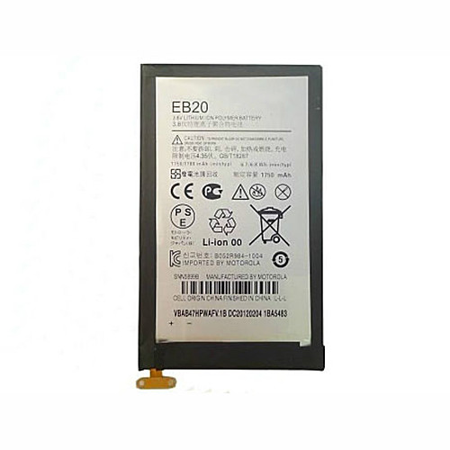 1750mAh Motorola Droid Razr XT910 XT912 + Tools Replacement Battery EB20 3.8V