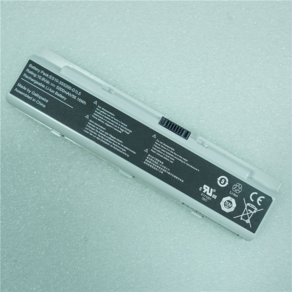 56.16Wh 5200mAh 10.8V ES10-3S5200-G1L5 Replacement Battery for Hasse ES10-3S5200-G1L5