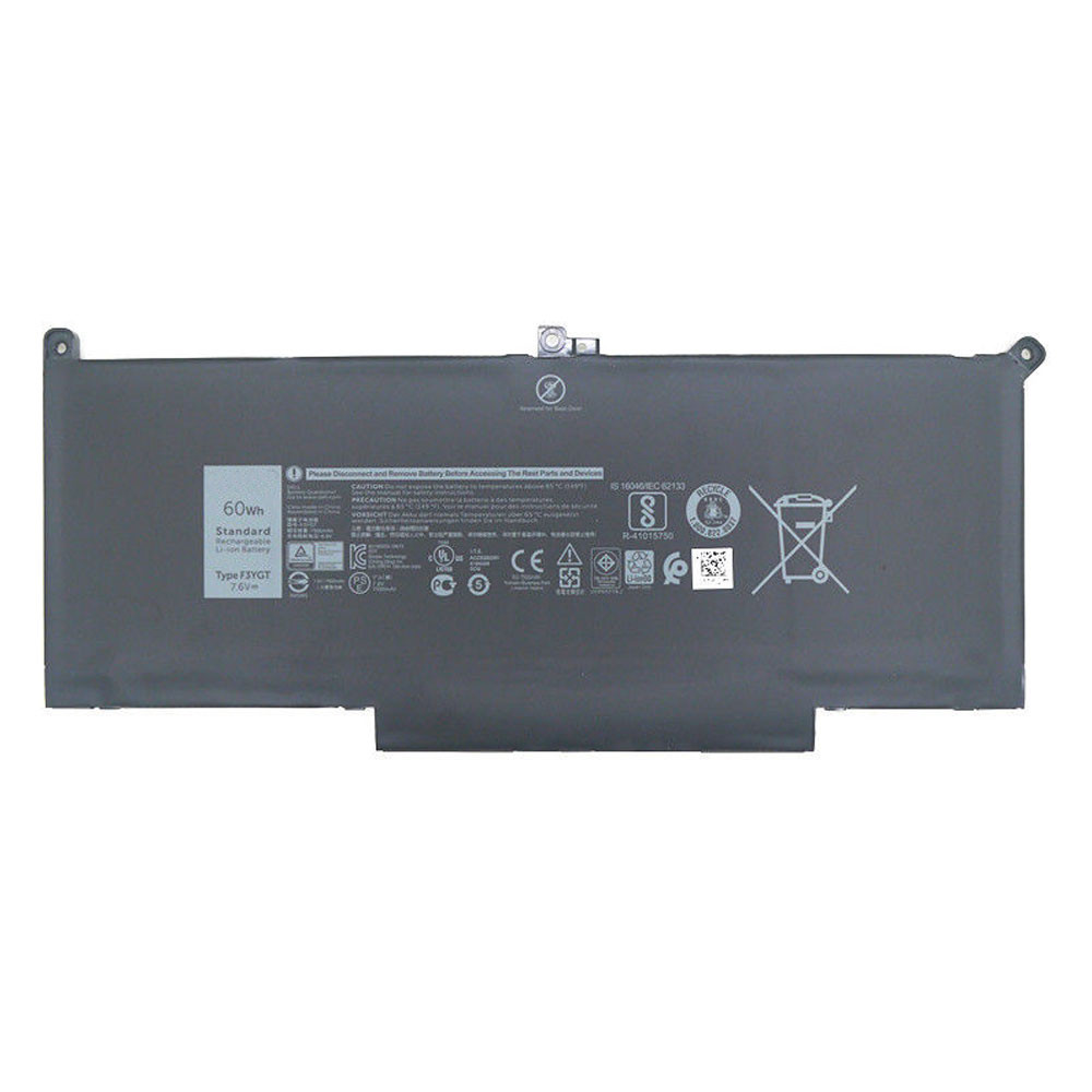60Wh 7.6V F3YG Replacement Battery for Dell Latitude 12 7000 7280 7480 DM6WC 2X39G