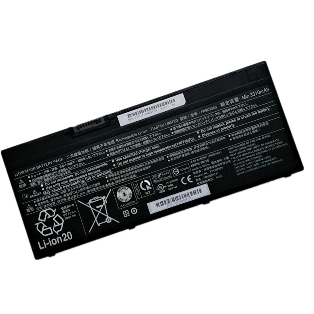 3310mAh/50WH 14.4V/16.8V FPB0338S Replacement Battery for Fujitsu Lifebook T937 T938 4cell