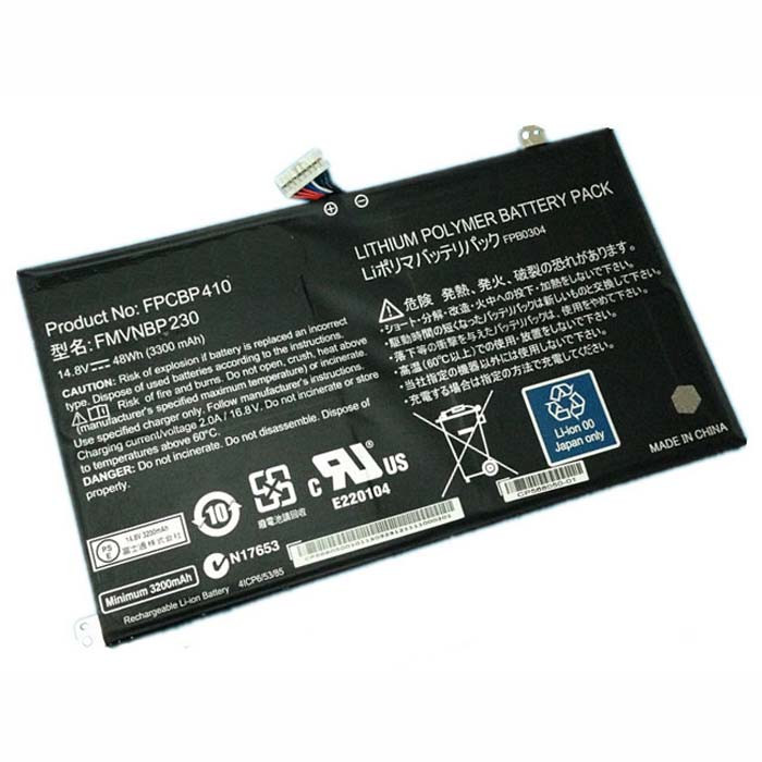 3300mAh/48Wh Fujitsu LifeBook UH574 Replacement Battery FPCBP410 FMVNBP230 14.8V