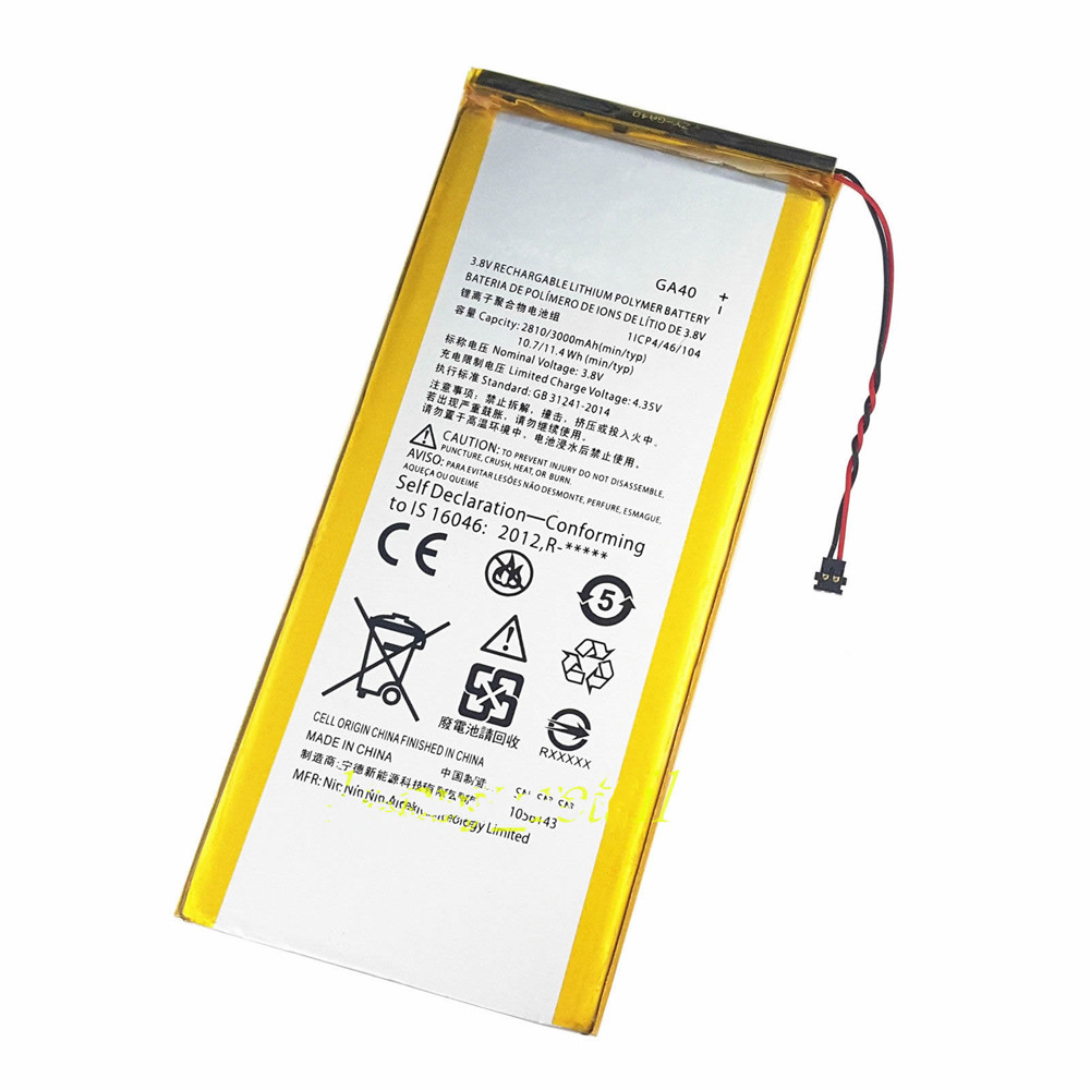 3000mAh / 11.4 Wh Motorola Moto G4 Plus Replacement Battery GA40 3.8V