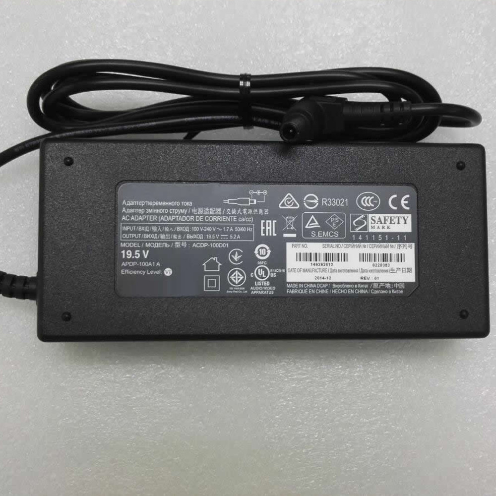 Charger Adapter and Cord for Sony Vaio PCGA AC19V4 ACDP-100D01