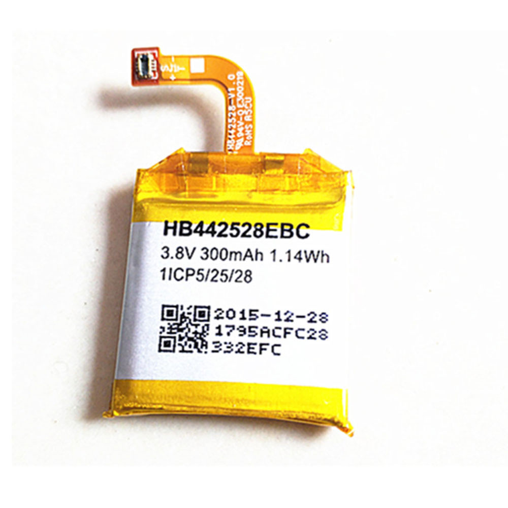 300MAH/1.14Wh 3.8V HB442528EBC Replacement Battery for Huawei Watch 1ICP5/25/28