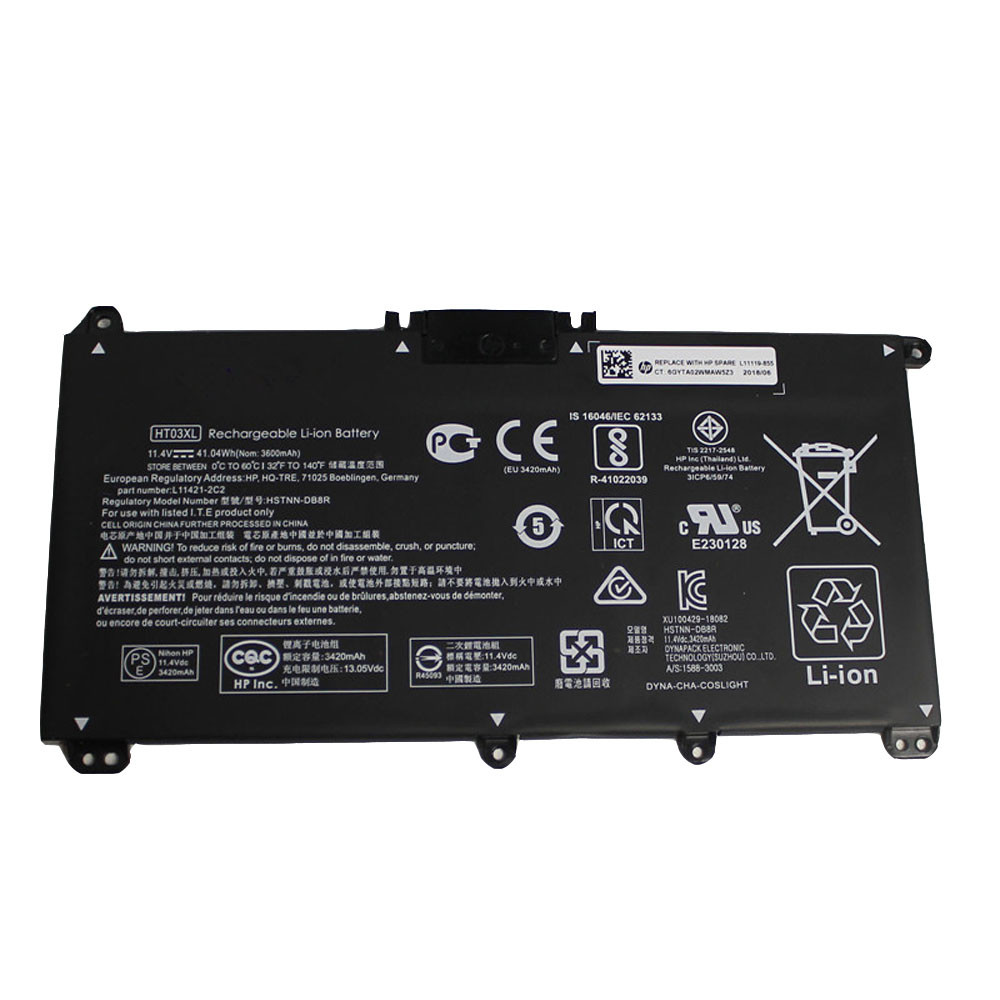 41.04Wh 11.4V HT03XL Replacement Battery for HP 14-CE0014TU 14-MA0312NG 14-CE0000