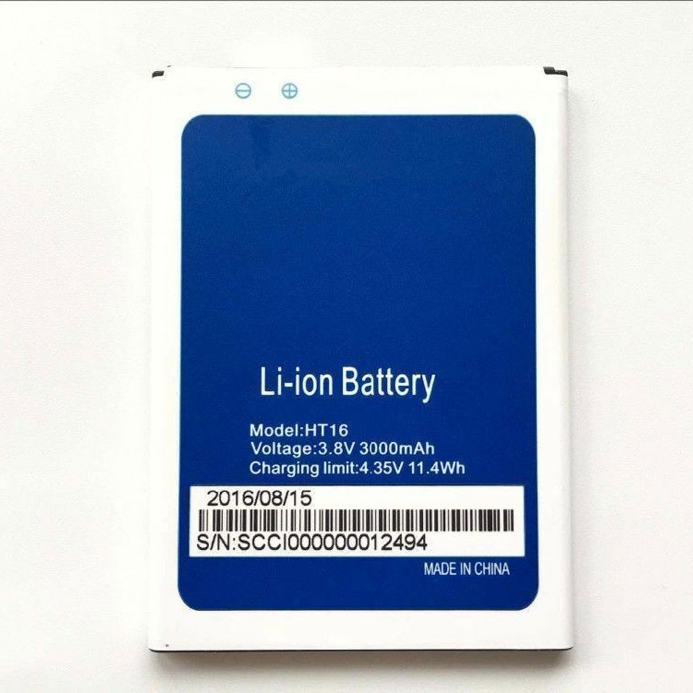 3000mAh/11.4WH 3.8V/4.35V HT16 Replacement Battery for HOMTOM HT16 Pro
