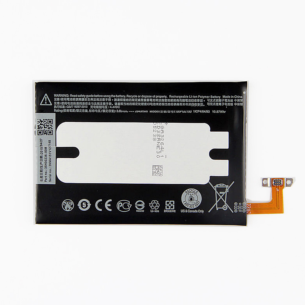 2840 mAh/10.87Whr HTC One M9 Hima Ultra 0PJA10 M9+ M9pt Replacement Battery B0PGE100 3.83 DVC