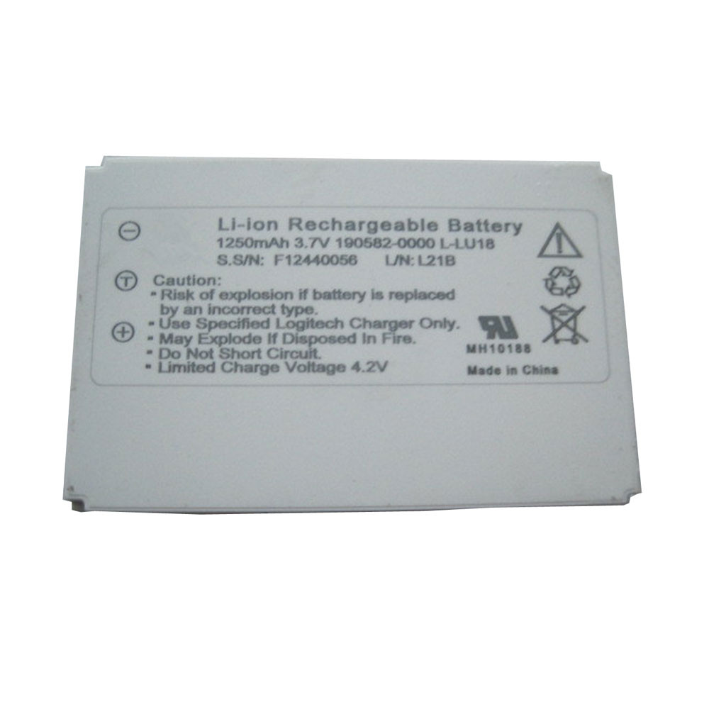 1250mah/4.5wh 3.7V/4.2V L-LU18 Replacement Battery for Logitech Harmony Remote 1000 1100 NR