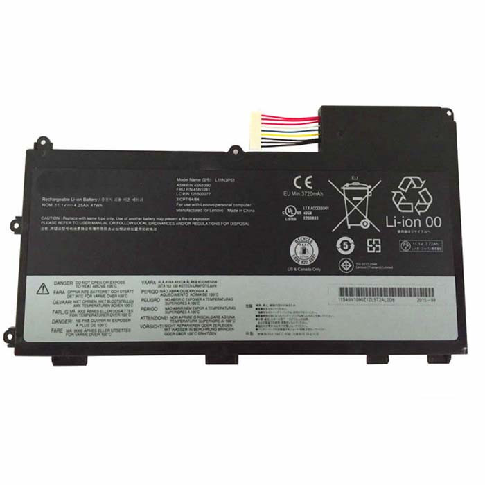 47wh/4.25Ah Lenovo ThinkPad T430U Replacement Battery L11N3P51 11.1V